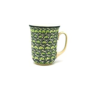 Polish Pottery Mug – 16 oz. Bistro – Irish Meadow
