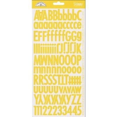 Doodlebug Skinny Cardstock Alpha Stickers, - Alpha Doodlebug Cardstock Stickers
