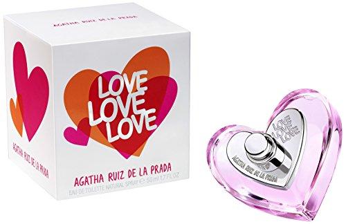 Agatha Ruiz De la Prada Eau de Toilette Spray for Women, Love, 1.7 Ounce