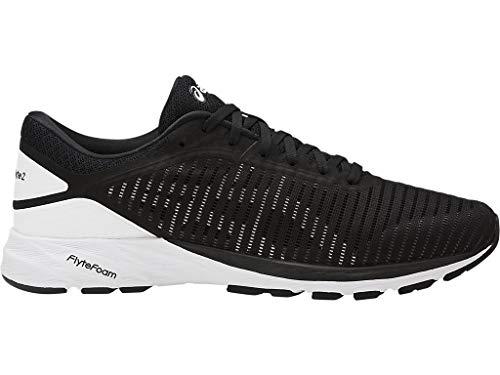 ASICS Men's Dynaflyte 2 Running Shoes, 11.5M, Black/White/Carbon