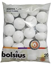 Bolsius Velas flotantes, 20 unidades, blanco,  4.5cm (L) x 4.5cm (W) x 3cm (H)