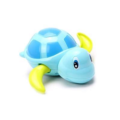 3 piezas Baby Bath Toys Toddler Carino tortuga animal Wind Up cadena de nadar juguete agua piscina flotador bañera de baño jugar juguete (Azul, Amarillo, Verde): Bebé