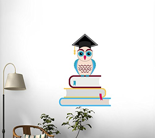 """Graduation Cap and Owl - 24""""H x 24""""W - Peel and Stick Wall Decal by Wallmonkeys"""