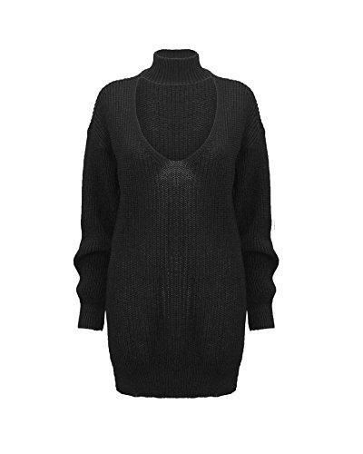 TOP VENDOR - Jerséi - suéter - Manga Larga - para mujer negro