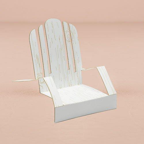 WEDDINGSTAR Le Wht Adirondack Deck Chair Card12, White