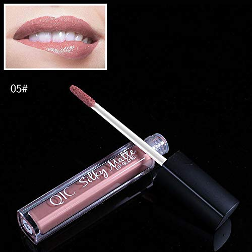 FORUU Women's Lipstick, 2019 Valentine's Day Surprise Best Gift For Girlfriend Lover Wife Party Under 5 Free delivery Makeup velve Brown Nude Chocolate Color Liquid Lip Gloss (Best Discount Cosmetics Websites)