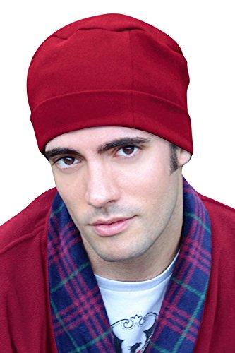 Mens Sleep Cap - 100% Cotton Night Cap for Men - Sleeping Hat Cabernet
