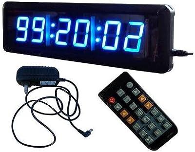 ledigtal led days countdown clock red color 1 8 10 digits count up to 10000 days. Black Bedroom Furniture Sets. Home Design Ideas