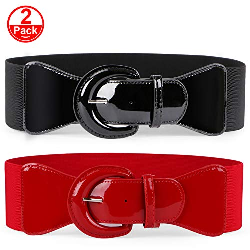 JASGOOD Women Wide Stretchy Cinch Belt Dress Elastic Waist Belts For Women -