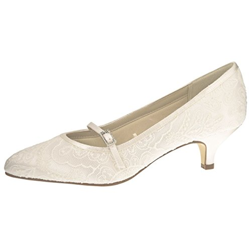 Rainbow Club Brautschuhe Bridget Ivory Satin / Vintage Lace (Bliss)