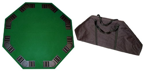 Da Vinci 8 Player Octagon Folding Poker Table Top by Da Vinci