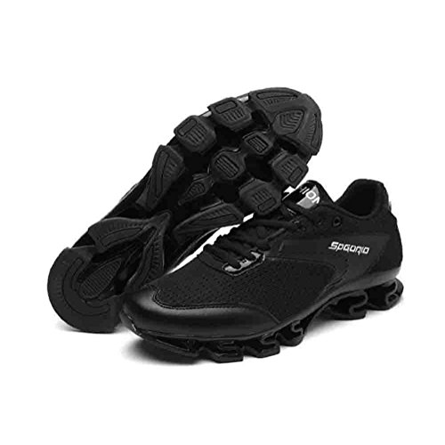 Sport invernali scarpe sportive Autunno e Inverno Respirabile altezza di altezza maschio Forma della lama Scarpe da corsa sportive , Black , 40