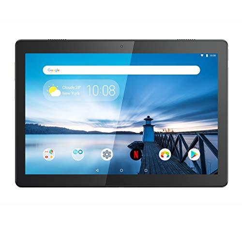 Lenovo TAB M10 Tablet, Display 10,1″ Full HD IPS, Processore Qualcomm Snapdragon 450,Storage 32GB espandibile fino a 256GB,RAM 3GB,WIFI+LTE, 2 Speaker, Android Oreo,Slate Black