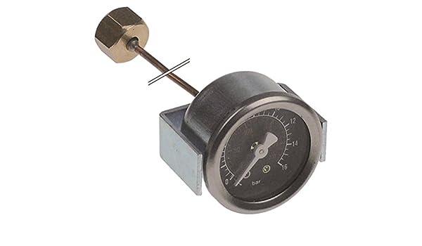 Expobar - Manómetro para máquina de café Diamant, conexión Office-Leva en la parte trasera con escala PSI, rosca interior con tubo capilar de 0 a 16 bar, diámetro de 41 mm: Amazon.es: