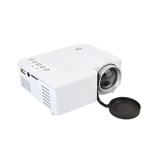 Hanbaili (EU Plug+White)Video Projector Home Projector UC28B Projector Supports USB Interface TF card for Home Cinema Theater TV Laptop Game from Hanbaili