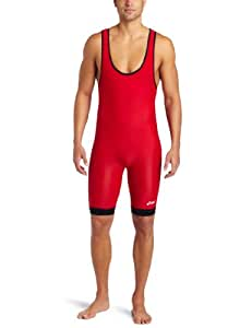 Asics Men's Reversible Modified Singlet (Red/Royal, 4X-Small)
