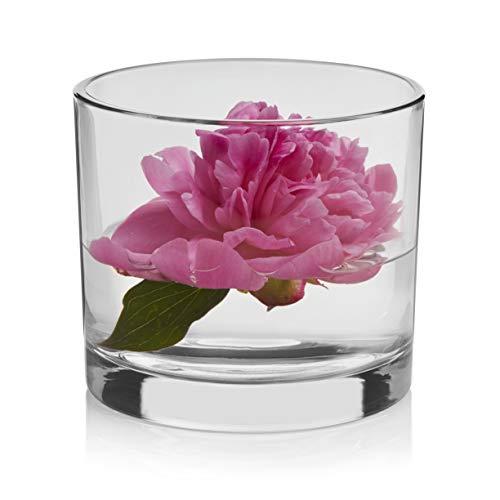 Libbey Capstan Cylinder Glass Vase, 4.5-inch, Set of 4