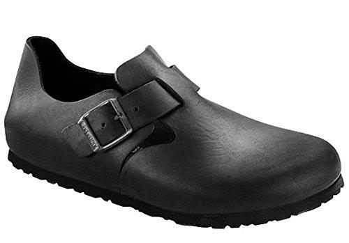Birkenstock London, Black Oiled Leather, 43 (US Men's 10-10.5, US Women's 12-12.5) Narrow
