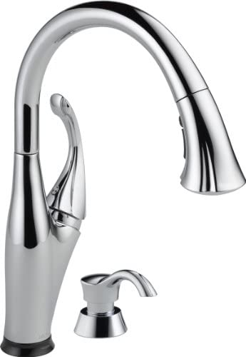 Delta Faucet Addison Single-Handle Touch Kitchen Sink FaucetPull Down Sprayer Soap Dispenser Touch2O Technology and Magnetic Docking Spray Head Chrome 9192T-SD-DST