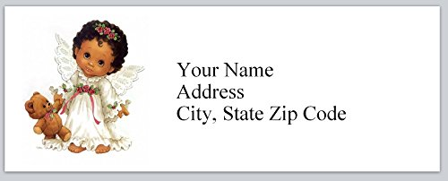 120 Personalized Return Address Labels Cute Baby Angel with teddy bear (bx 132)