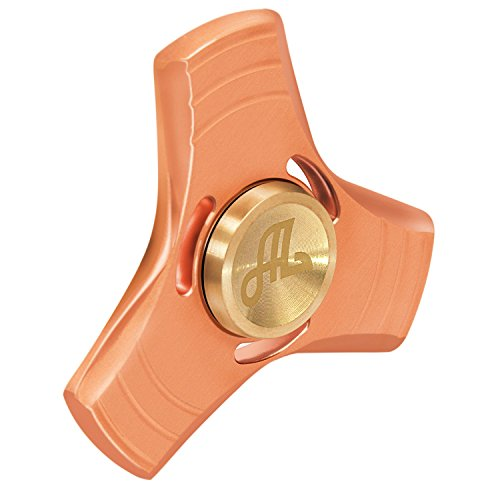Price comparison product image Alquar EDC Fidget Hand Spinner Pure Copper High Speed CNC Exquisitly Made