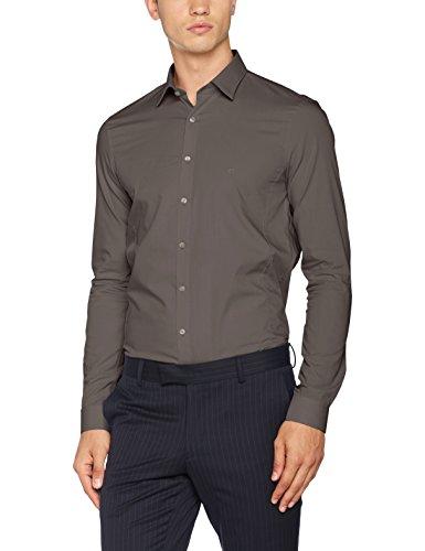 charcoal Para Hombre Venice Extra Oficina De Gris Fit Slim Camisa Ftc Klein Calvin f7wnRqHz4x