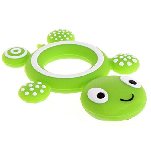 CHBC Safety Silicone Turtle Teether for Babies BPA Free (Infant Turtle Teether)