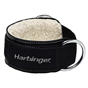 Harbinger 373700 Padded 3 Inch Ankle Cuff with Double Ring Attachment