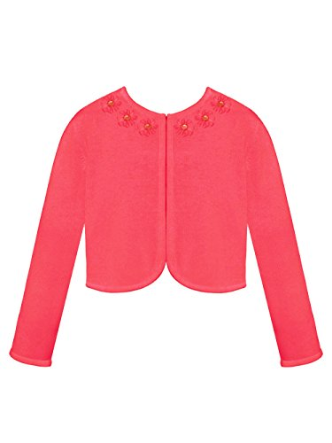 American Princess Little Girls' Toddler Rosette Edge Shrug - red, 4t - Edge Shrug
