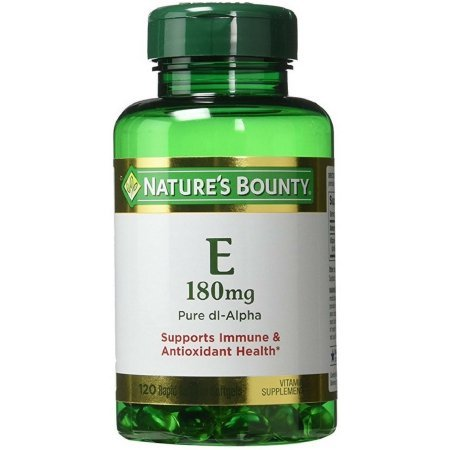Nature's Bounty Vitamin E 180mg Pure DL-Alpha 120 Softgels, Pack of 5 by Nature's Bounty