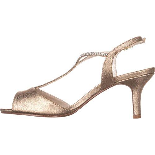 Delicia Talon Gold Metallic Sandales À Caparros Femmes gw86qcz
