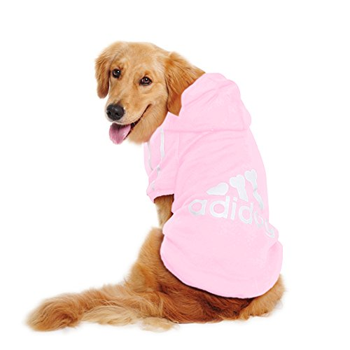 Dorapocket Adidog Pet Clothes Hoodies Dog Cat Sweatshirt Pullover Coat Costumes,Pink M ()