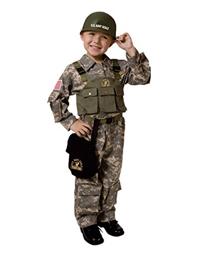 Army Men Costume - Navy SEAL - Army Special Forces Child Costume- Medium (8-10)