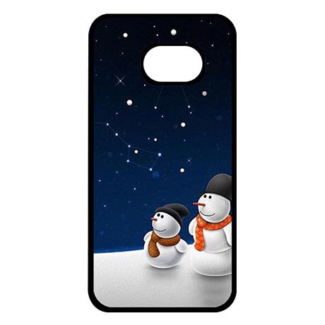 Samsung Galaxy S8 Protective Phone Cases for Starry Night Snowman Snap-on Protective Cover Case For Boys (Snowman Starry)