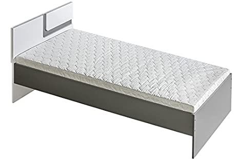 APETITO letto singolo senza materasso letto con testata alta in ...
