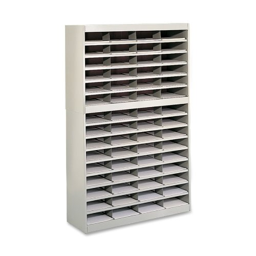 Safco Products 9231TSR E-Z Stor Literature Organizer, 60 Letter Size Compartments, Tropic Sand