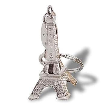 Amazon.com: Colgar llaves torre Eiffel llavero plata ...