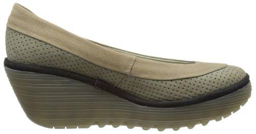 Fly London Yoko Perf. - Zapatos de Cordones de cuero mujer verde - Khaki/Light Grey/Black