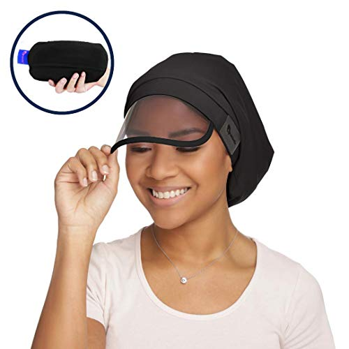 (Women's Waterproof Rain Hat with 100% Hair Coverage, Satin Lining, UV Protective Visor, and Collapsible Hidden Pocket for Travel)