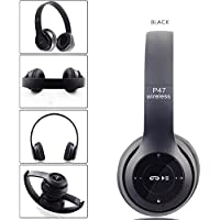 Wireless Headphones, P47 Bluetooth Over Ear Foldable Headset with Microphone Stereo Earphones 3.5mm Audio Support FM…