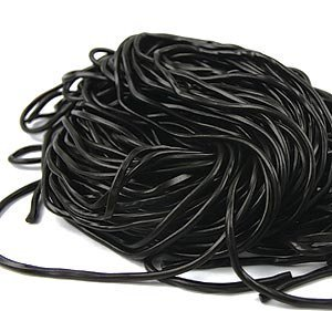 Black Licorice Laces - Black Laces 2 Pound Bag, Quality Licorice Laces Gustafs
