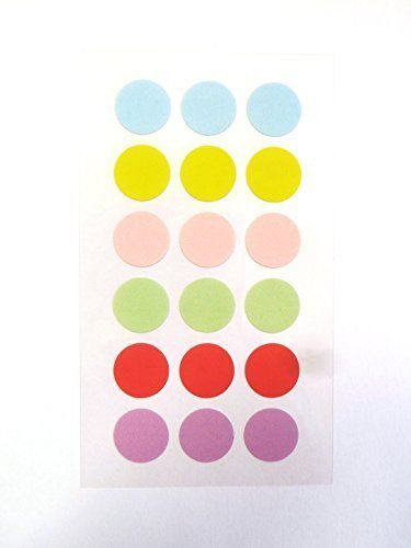 15mm Pastel Colored Stickers Round Dot Circular Sticky Labels Self-Adhesive Labels