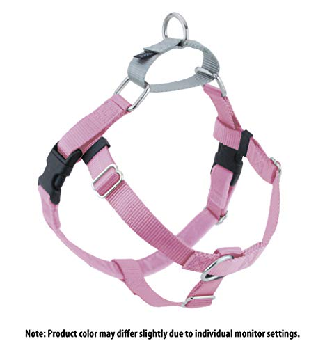 2 Hounds Design Freedom No-Pull Dog Harness, Adjustable Comfortable Control for Dog Walking, Made in USA (Leash Sold Separately) (Medium 1) (Rose)