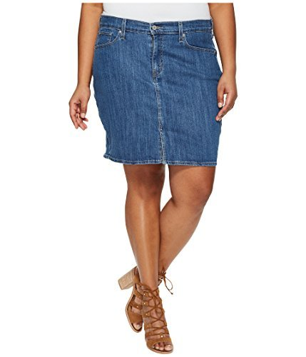 20w Skirt - Levi's Women's Plus Size Icon Skirts, Fox Creek, 40 (US 20)