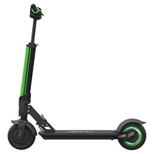 Jetson Green Beam Folding Electric Kick Scooter for Kids and Adults - Stylish Glowing LED Beam Front Light - Inflatable Wheels for EZ Rolling Over Rough Terrain - Easy Assembly,