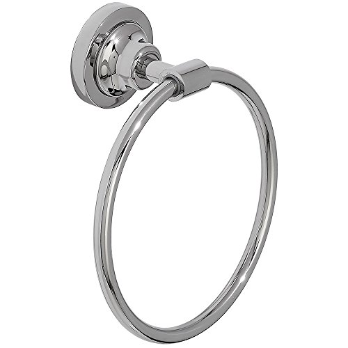 (Classical Design Polished Chrome Hand Towel Ring | Premium Quality Stainless Steel Hanging Towel Holder | Traditional Wall Mounted Fixture | Bathroom or Kitchen )
