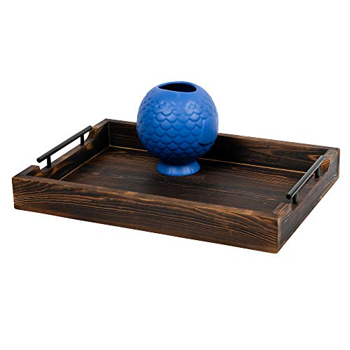 Table Tray Ottoman (Rustic Serving Tray by East World - 20