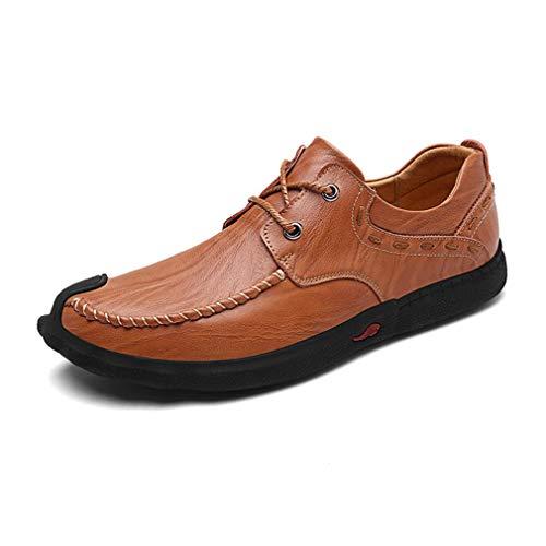カジュアルシューズ メンズ レースアップ 通気性 クッション性 抗菌防臭 ウォーキング 革靴 紳士靴 デッキシューズ つま先加工 防滑 疲れ知らず コンフォート ヴィンテージ風 通勤