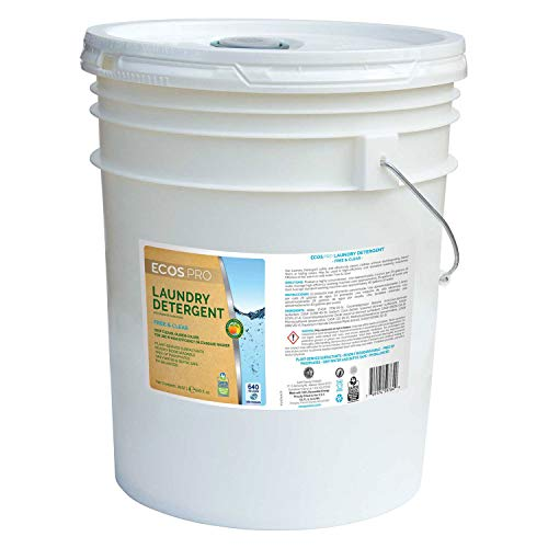 (ECOS Liquid Laundry Detergent, Free & Clear 2X 5 Gallon Pail, Lot of 1)