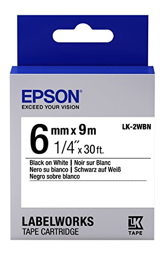Epson LabelWorks Standard LK (Replaces LC) Tape Cartridge...